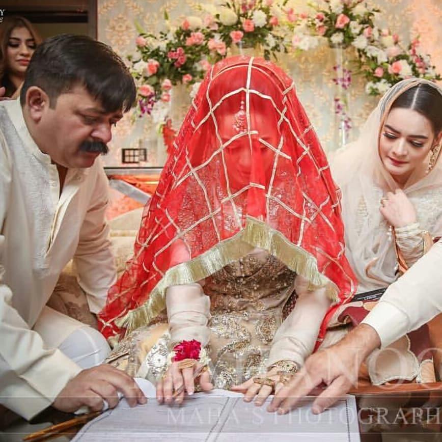 Beautiful New Pictures Of Aiman And Muneeb Nikah Pakistani Drama Celebrities