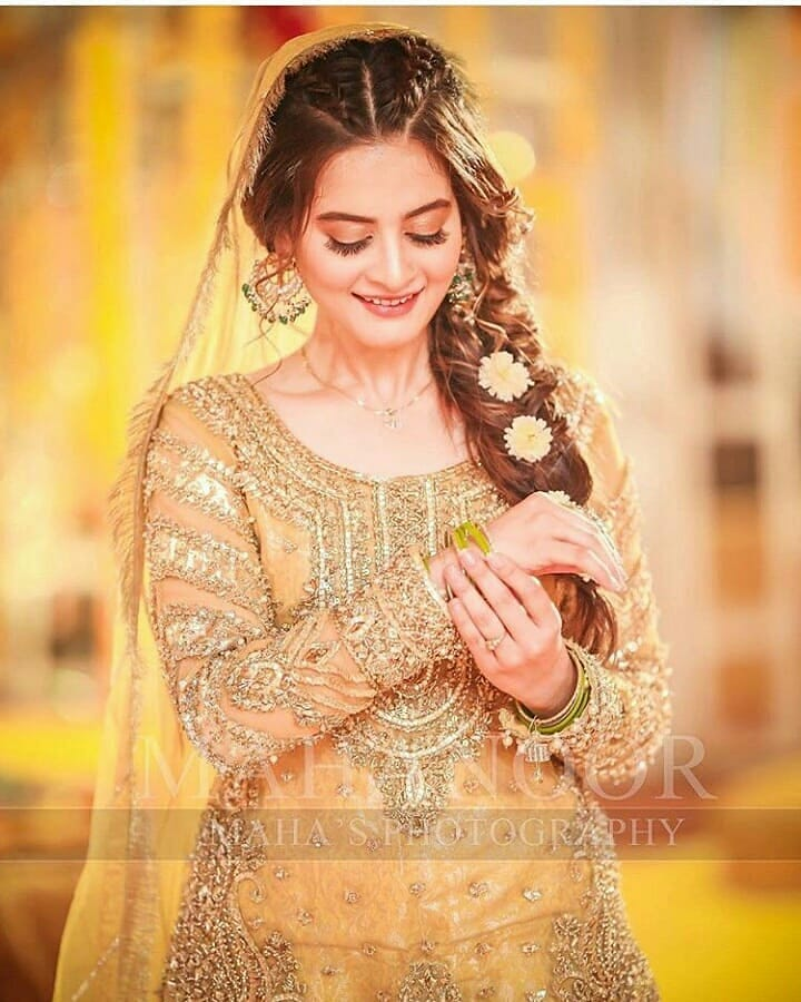 First Look Of Gorgeous Aiman Khan On Her Mayun Happening