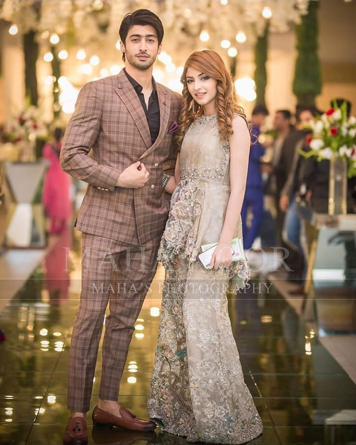 Beautiful Kinza Hashmi At Aiman Amp Muneeb Wedding Reception