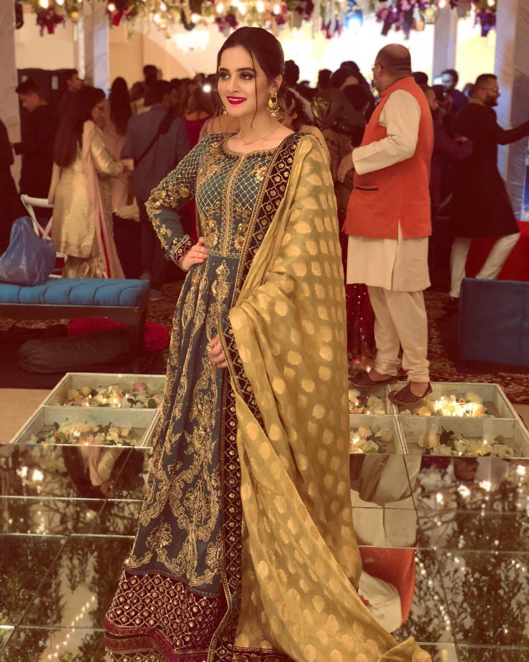 Beautiful Aiman And Minal At A Wedding Event Last Night Pakistani Drama Celebrities