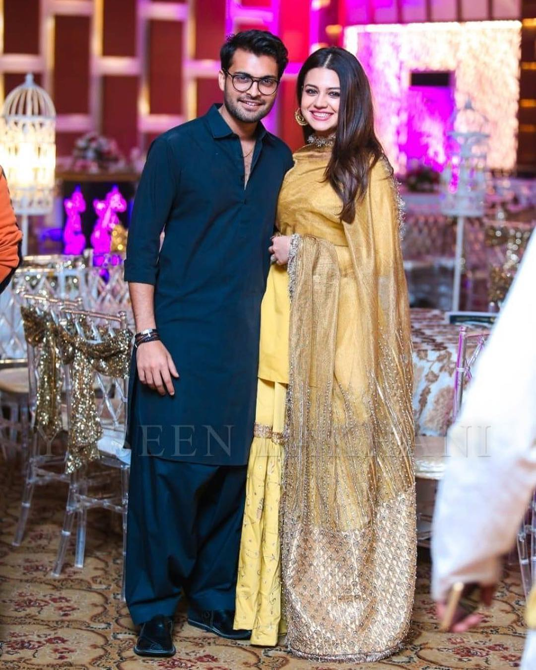 Beautiful Couple Zara Noor Abbas And Asad Siddique At