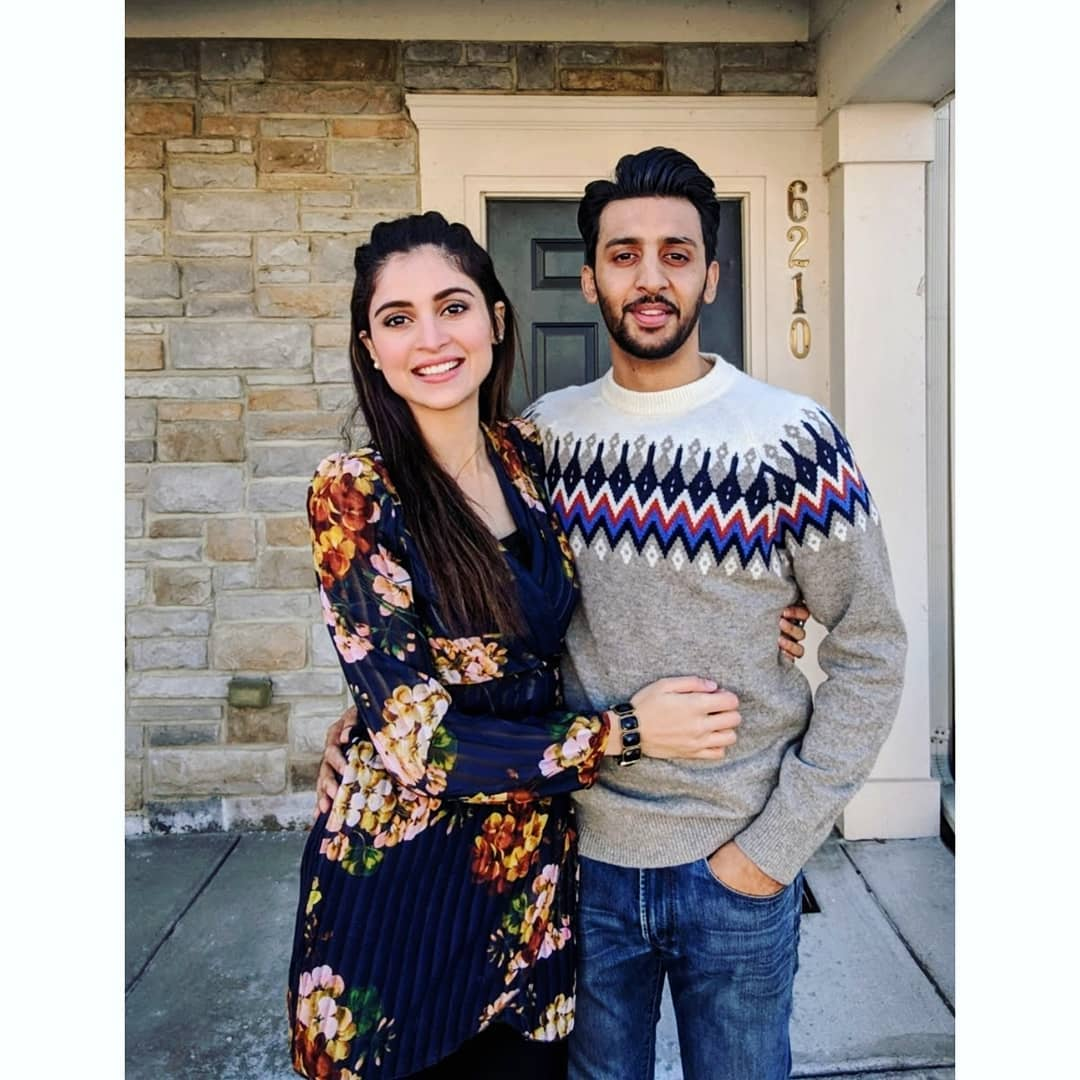 Latest Beautiful CLicks Of Arij Fatima With Her Husband In Canada Pakistani Drama Celebrities