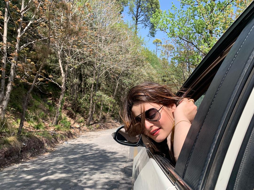 Latest Clicks Of Minal Khan With Her Mother In Muree Pakistani Drama Celebrities