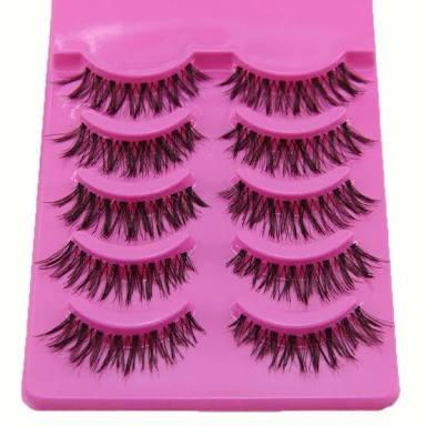 92657ff314d Sanwood 5 Pairs Makeup Handmade Natural Long Volume False Eyelashes  Extensions
