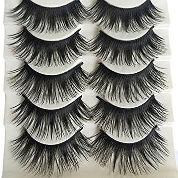 6c8b5eb3800 Bluelans 5 Pairs Long Thick Eye Lashes Extensions Cross Makeup False Fake  Eye Lashes
