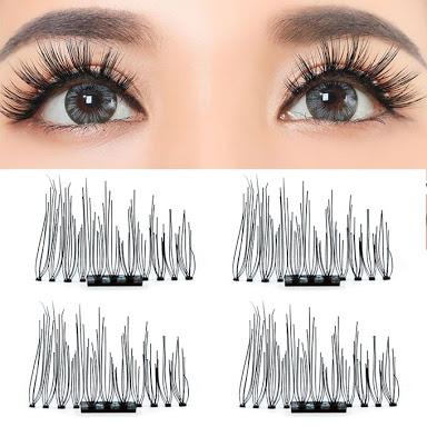 f544bfb7719 Liplasting 2 Pair Magnetic Eyelashes 3D Reuseable False Magnetic Eyelashes  Extender Thicker