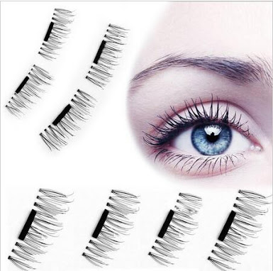 e315ad3a35d 4 Pcs 3D Magnetic False Eyelashes Eye Beauty Makeup Accessories Eyelashes  Extension Tools