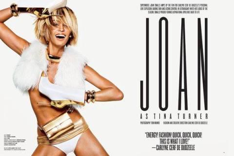 Joan Smalls como Tina Turner, para V Magazine