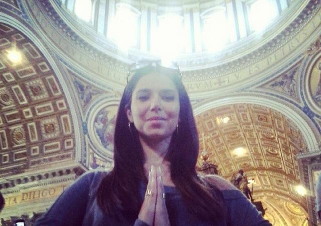 Roselyn en el Vaticano