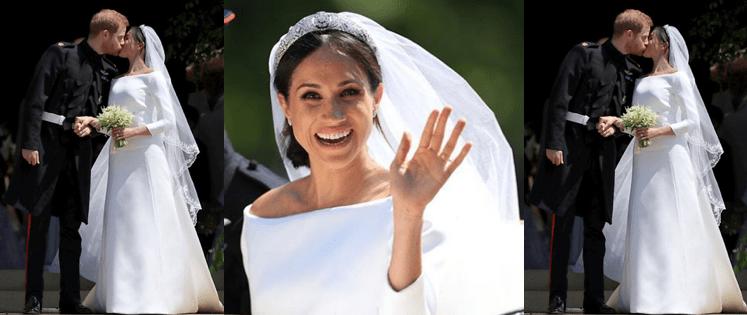 La duquesa de Sussex y lo que guarda su vestido de novia