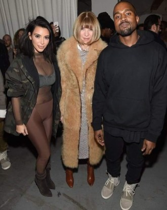 Kim K-W, Anna Wintour & Kanye