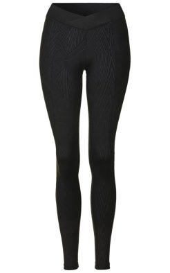 Reflective linear print ankle leggings, £100