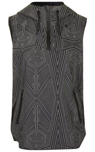 Wrap back sleeveless jacket, £115
