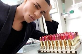Olivier Rousteing with L'Oréal Paris x Balmain