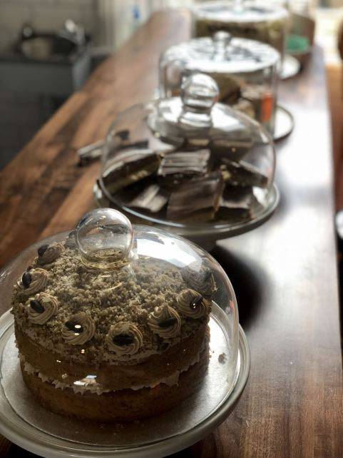 A selection of cakes on the counter top at Forsyth & Reed Clayton Road