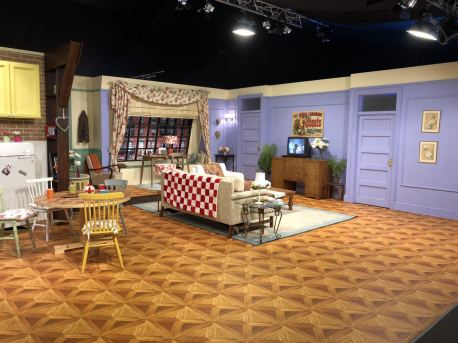 Comedy Central UK's Friends Fest 2018: A wide shot showing Monica's apartment set for the TV show Frirnds