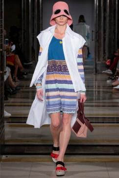 Simon Mo SS19 LFW Fashion Voyeur Blog stipes with white coatigan
