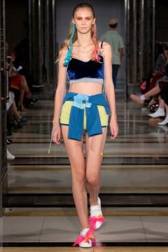 Simon Mo SS19 LFW Fashion Voyeur Blog Shorts and bralet co-ords