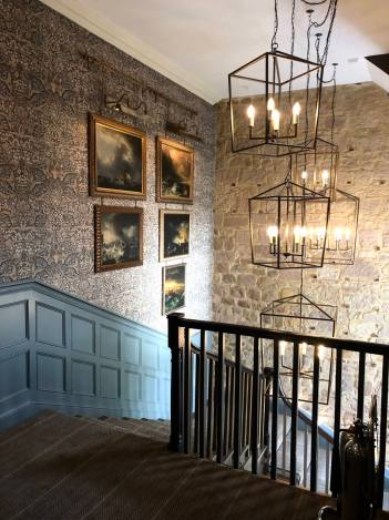 Beadnell Towers Hotel Original Stone Staircase & Feature Lighting