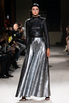A model on the runway at the PRITCH London Divine Beings Runway Show in London