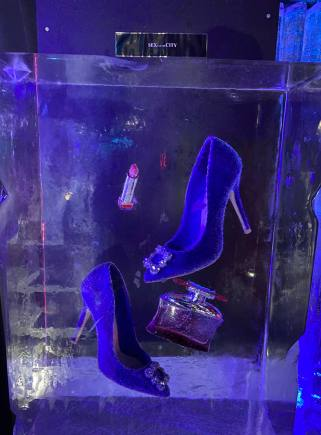 Carrie Bradshaw's Manolo Blahnik's as worn in Sex and The city encased in ice in the Grey Goose Ice Bar at STACK Newcastle
