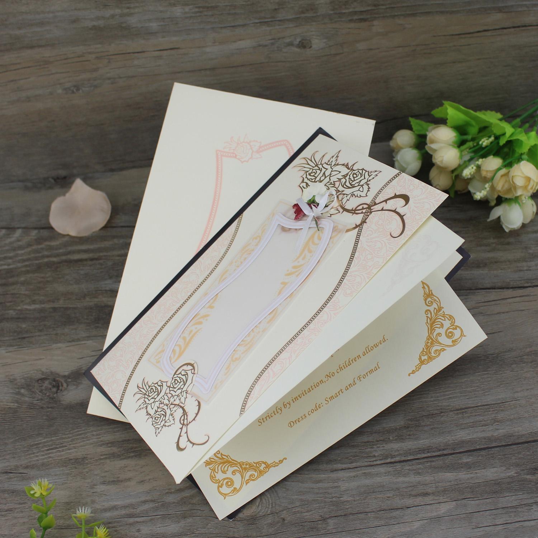 Laser Cut Wedding Invitation Heart