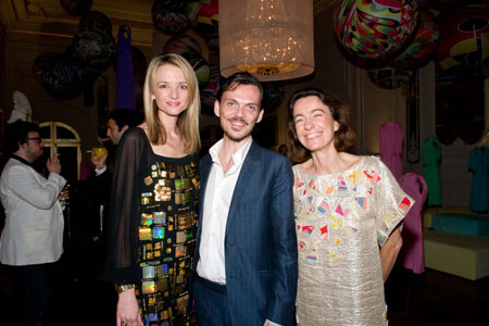 Delphine Arnault, Matthew Williamson and Laudomia Pucci
