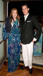Countess Celia von Bismarck and Stefano Tonchi