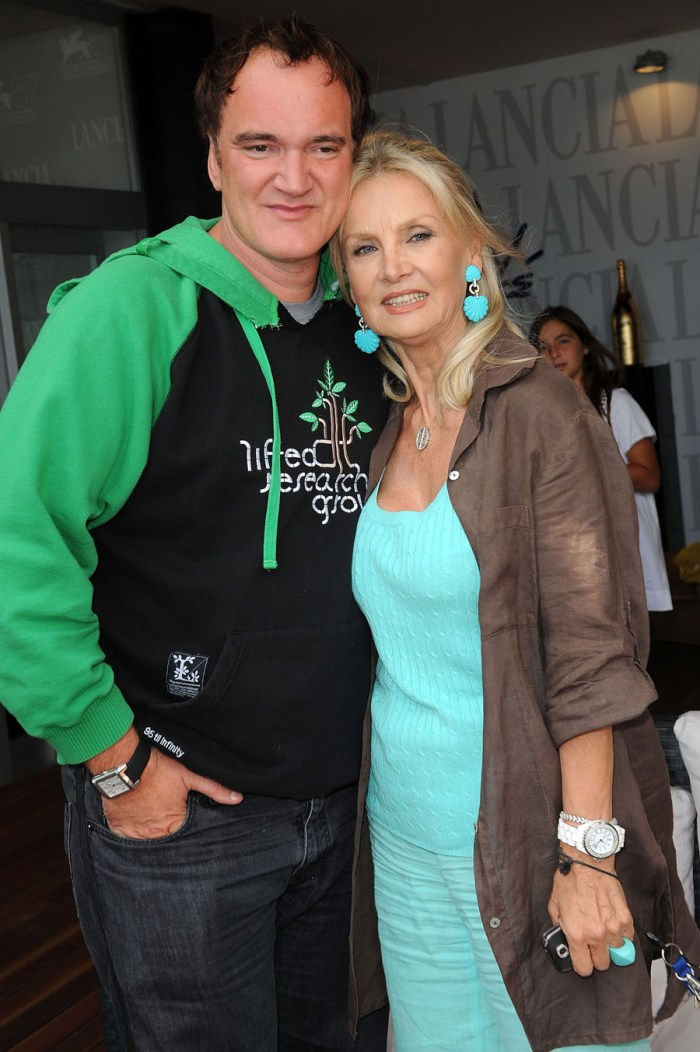 Quentin Tarantino and Barbara Bouchet