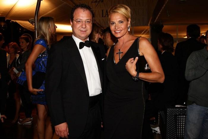 Giorgio Mule and Simona Ventura