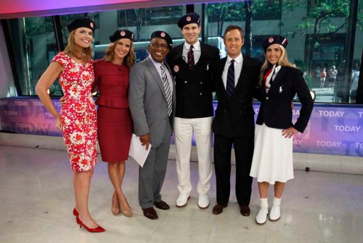 (l-r) Savannah Guthrie, Natalie Morales, Al Roker, Morehouse, David Lauren and Heather Mitts