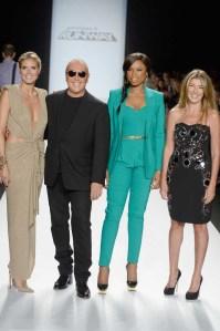 Model Heidi Klum, designer Michael Kors, singer Jennifer Hudson and Nina Garcia