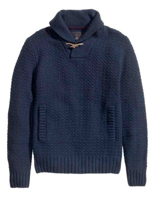 HM Blue knit sweater_$49.95