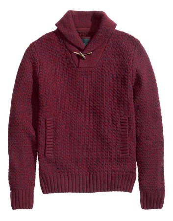 HM Burgundy knit sweater_$49.95