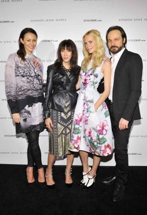 Caroline Rush, Merle Ginsberg, Poppy Delevingne and Mario Eimuth