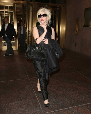Lady Gaga spotted leaving an office building in New York City