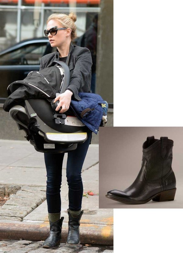 Anna Paquin in Frye Carson Shortie