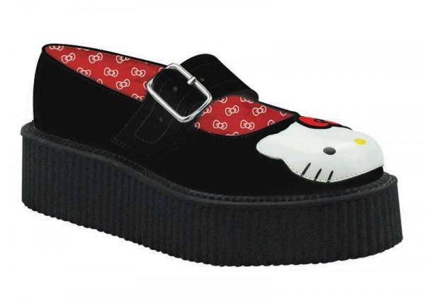 Hello Kitty x T.U.K. - Black Mary Jane Creeper