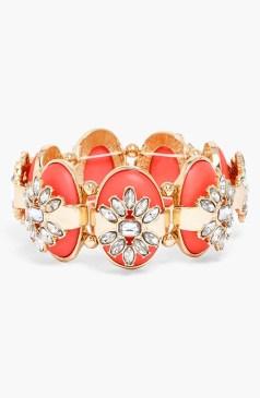 Smokey Dame Embellished Stretch Bracelet_$46_Item 347037