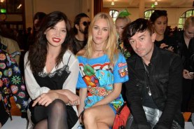 Daisy Lowe, Mary Charteris and Robbie Furze