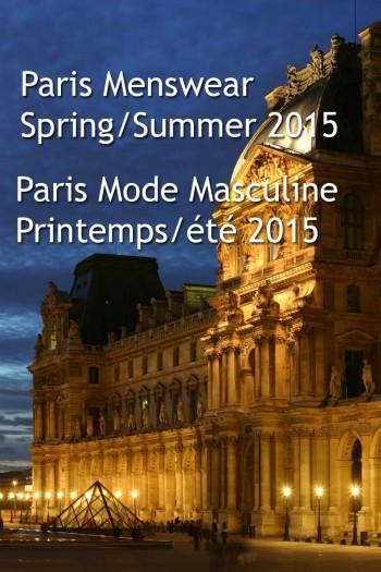 paris menswear spring 2015