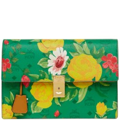 Blume Paradiso Flower SHoulder Clutch Green 3