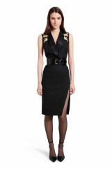 Wear this dress with the ankle strap heels and croc belt for a look of streamlined polish. The delicate embroidery and thigh high slit add to the feeling of sophisticated glamour. LOOK 3 Structured Dress with Crane Embroidery, $49.99** Croc Effect Belt in Black, $29.99** Ankle Strap Shoe in Black, $39.99* *TARGET.COM EXCLUSIVE ** AVAILABLE GLOBALLY ON NET-A-PORTER.COM
