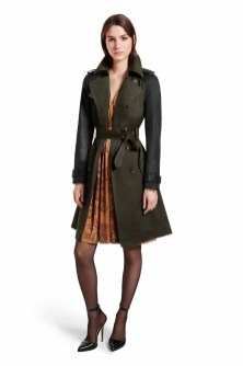 Classic shapes get a distinctly modern feel with this alluring mix of colors. The feminine fit-and-flare dress works to perfection with the sharply tailored trench coat designed with a flattering back peplum detail. LOOK 7 Trench Coat in Military Green/Black, $89.99*** Dress in Python Print, $44.99** Ankle Strap Shoe in Black, $39.99* *TARGET.COM EXCLUSIVE ** AVAILABLE GLOBALLY ON NET-A-PORTER.COM