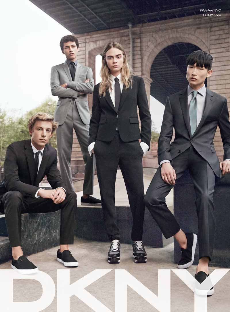 Cara Delevingne Headlines DKNY and DKNY Jeans Spring 2015 Ad