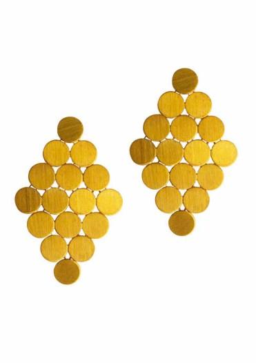 ILU1238 Swinging 60's gold earrings