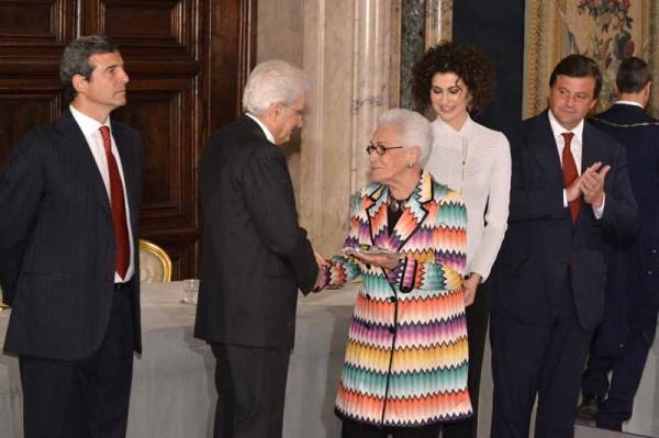 Riccardo M.Monti -Sergio Mattarella-Rosita Missoni Jelmini-Luisa Todini-Carlo Calenda