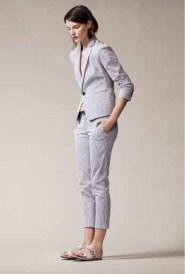 ann taylor striped suit
