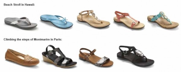 vionic shoes for hawaii and paris