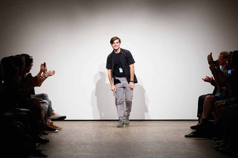 Designer Ivan Mandzukic poses at the Ivanman show during the Mercedes-Benz Fashion Week Berlin Spring/Summer 2016 at Stage at me Collectors Room on July 7, 2015 in Berlin, Germany.